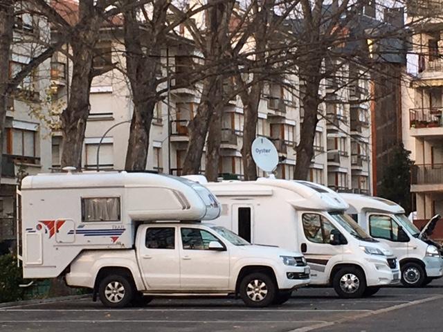 caravanas estacionadas